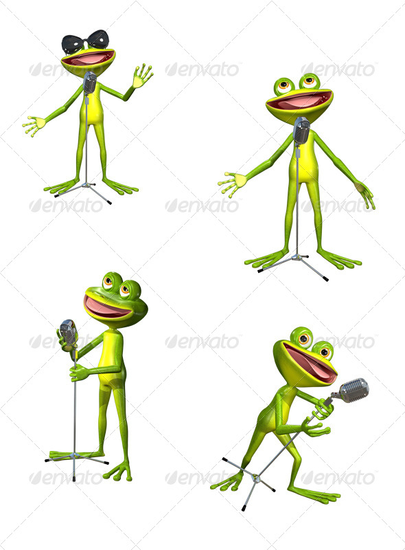 GraphicRiver Frog With Microphone 7853627