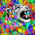 Leopard Psychedelic Paint Splats - PhotoDune Item for Sale