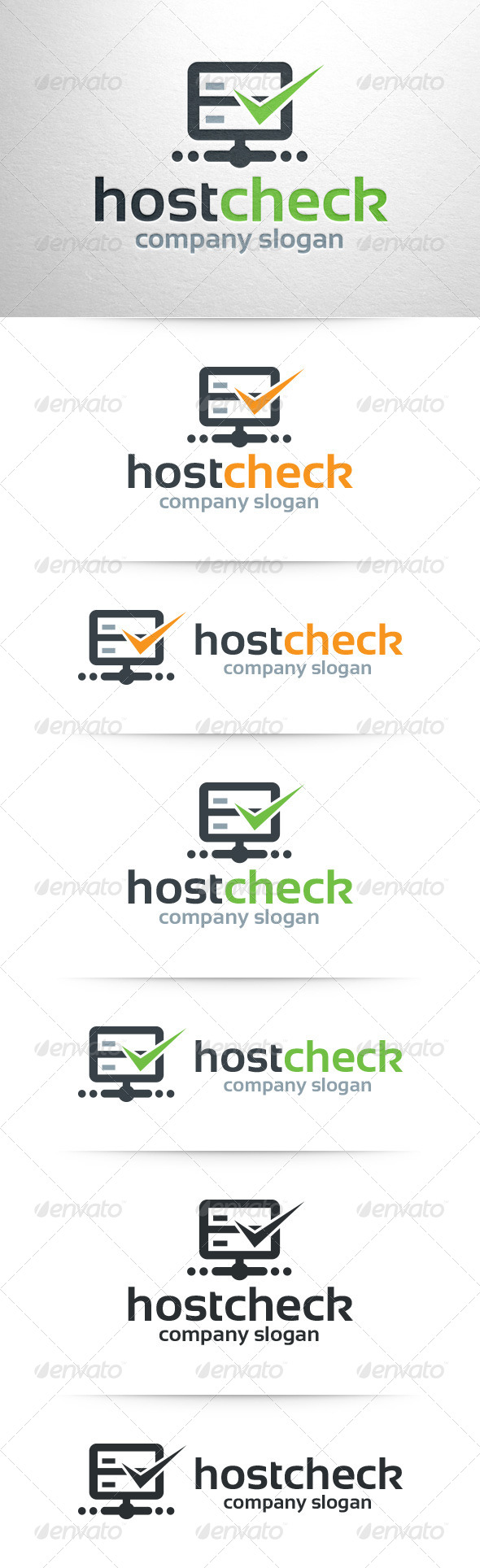 GraphicRiver Host Check Logo Template 7854805
