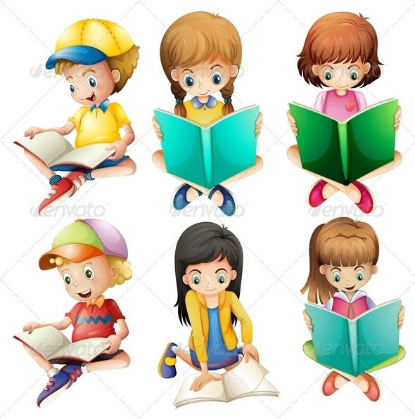 GraphicRiver Kids Reading 7854874