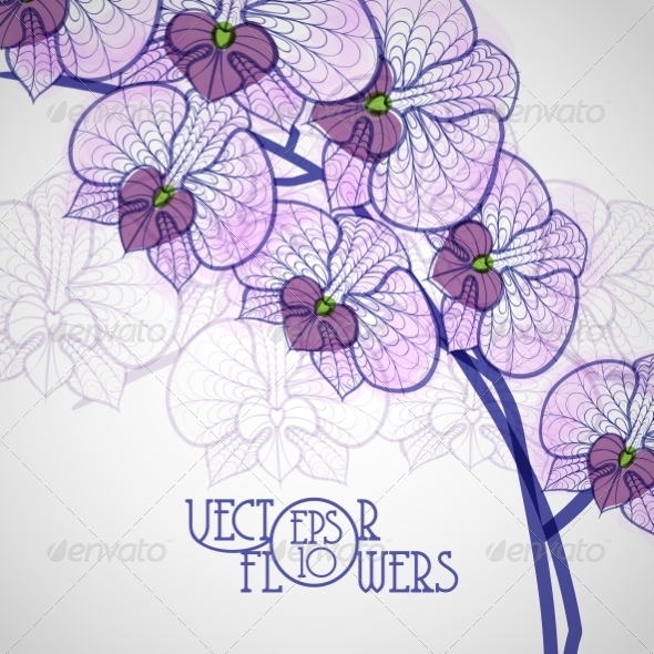 GraphicRiver Hand Drawing Orchid Flower 7854906