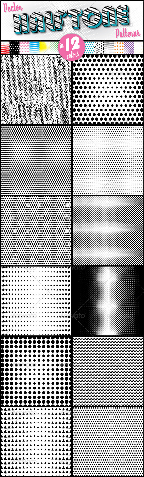 GraphicRiver Halftone Patterns 7855154