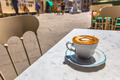 Italian Cup of Coffee at a Cafe Terrace with Street View, Italy - PhotoDune Item for Sale