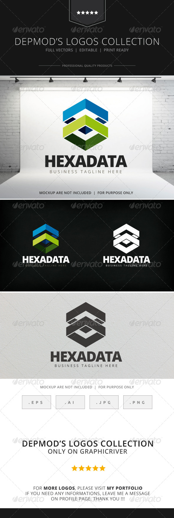 GraphicRiver Hexa Data Logo 7857047