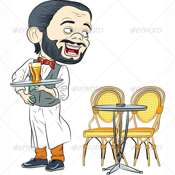 GraphicRiver Waiter with Tray 7857078