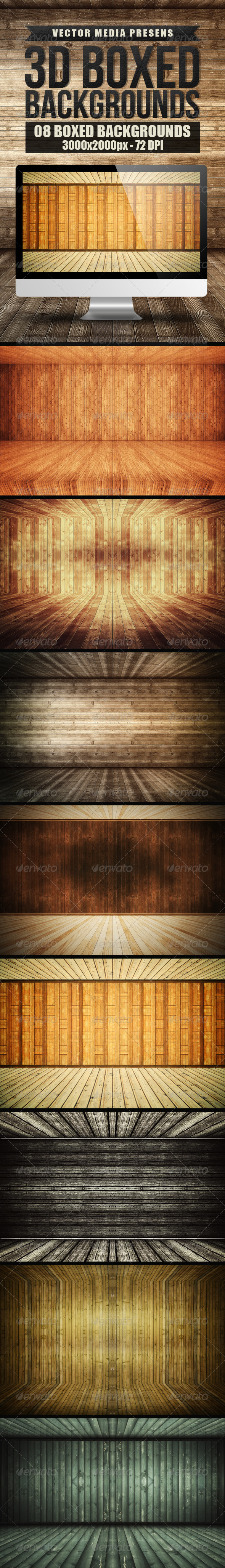 GraphicRiver 3D Boxed Backgrounds 7857227