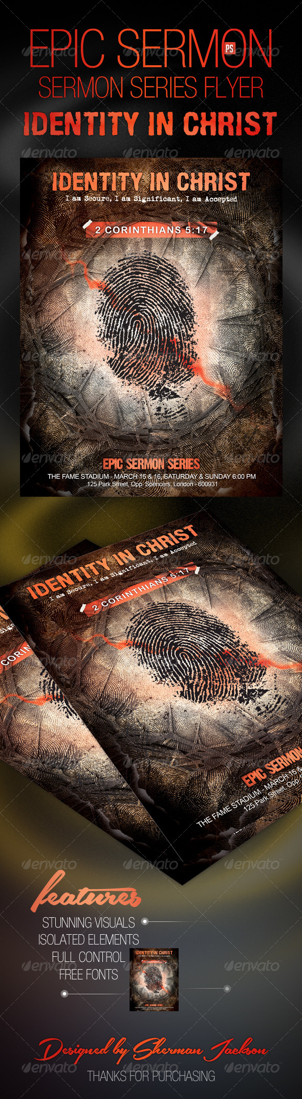 GraphicRiver Epic Sermon Series Flyer Identity in Christ 7857455