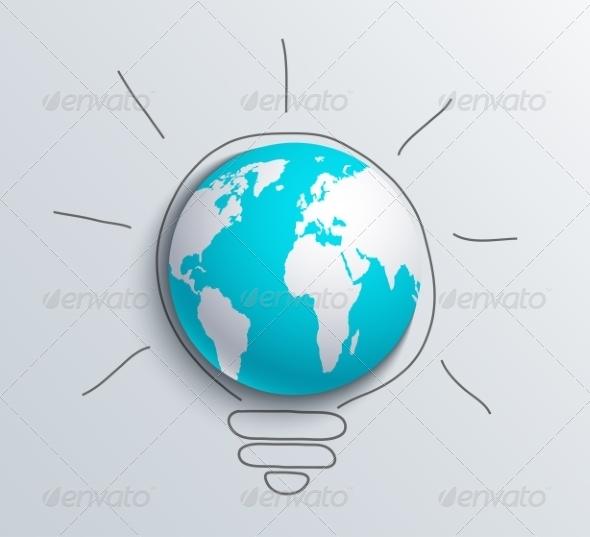 GraphicRiver Modern Concept Idea and World 7857566