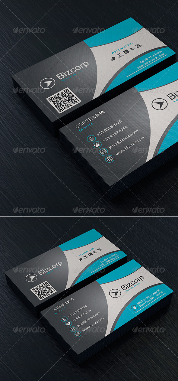 GraphicRiver Modern Business Card Vol 01 7857666