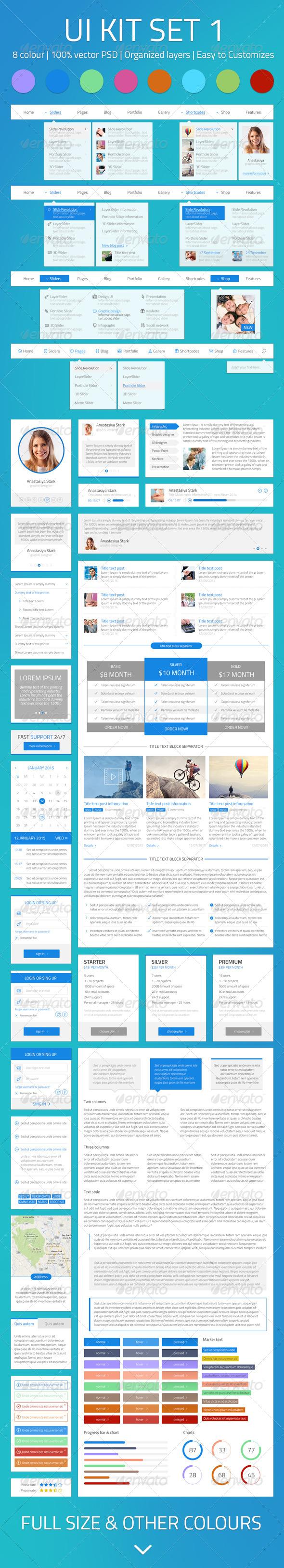 GraphicRiver UI Kit set 1 7858462
