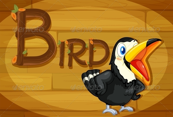 GraphicRiver Wooden Frame with Bird 7859777