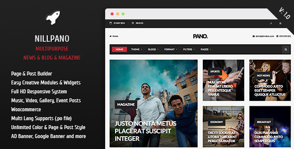 ThemeForest Nillpano Multipurpose News and Blog Magazine 7816130