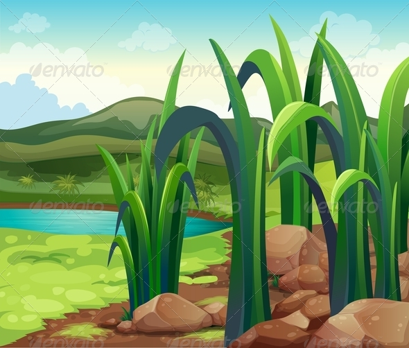 GraphicRiver A river near the hills 7860310