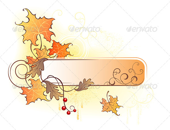 GraphicRiver Banner with the Autumn Leave 7860356