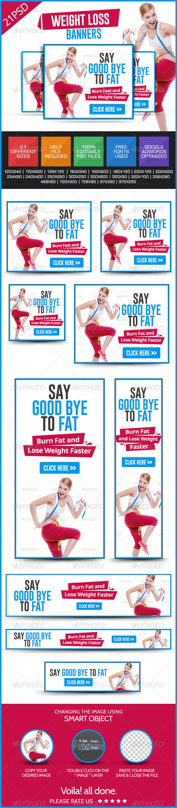 GraphicRiver Weight loss & GYM Banners 7860523