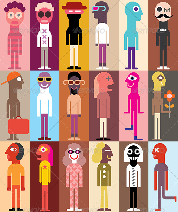 GraphicRiver Group of People Illustration 7860777