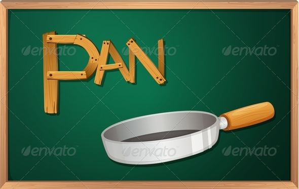 GraphicRiver Blackboard with a pan 7860856