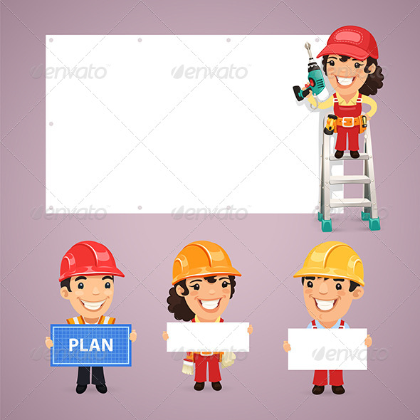 GraphicRiver Builders Presenting Empty Banners 7849221