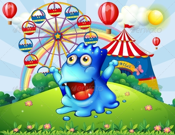 GraphicRiver Monster at the Carnival 7861574