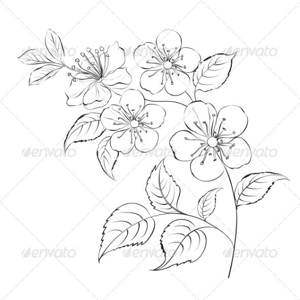 GraphicRiver Spring Cherry Blossom Sakura 7861719