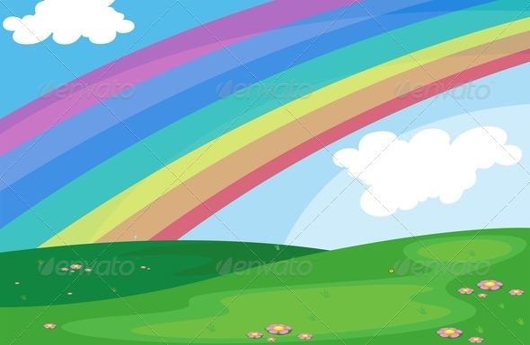 GraphicRiver Rainbow in the sky 7861889