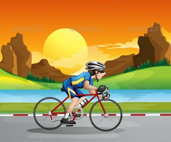 GraphicRiver Cycling Man 7862106