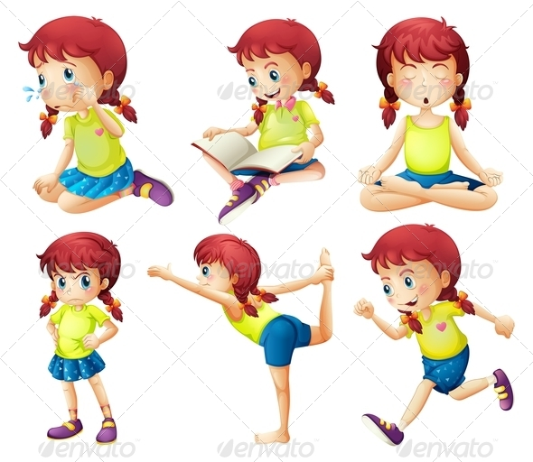 GraphicRiver Girl in Six Poses 7862129