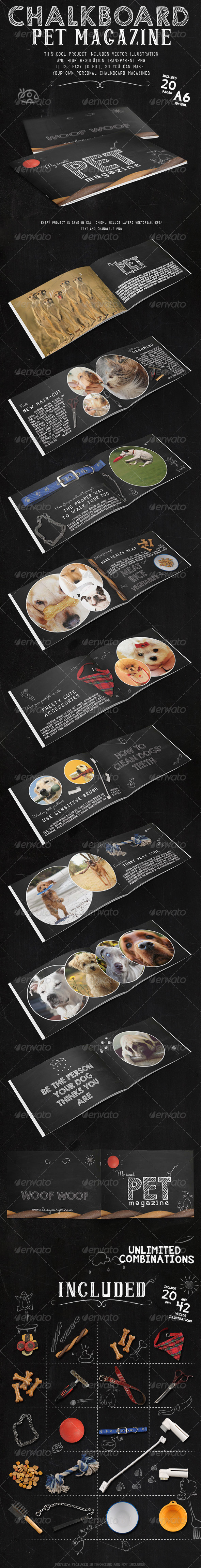 GraphicRiver Chalkboard Pet Magazine 7862727