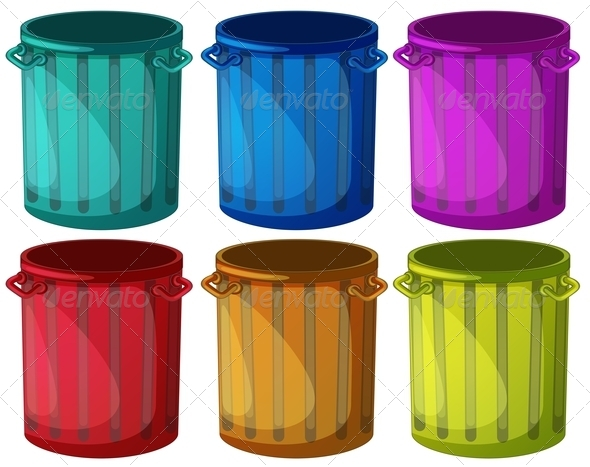 GraphicRiver Colorful Trashcans 7863016