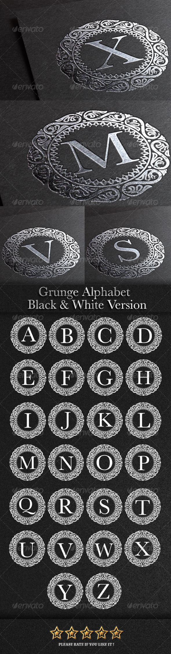 GraphicRiver Grunge Alphabet Symbol 7863075