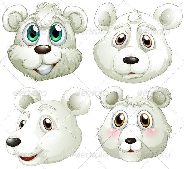 GraphicRiver Polar Bears Heads 7863259