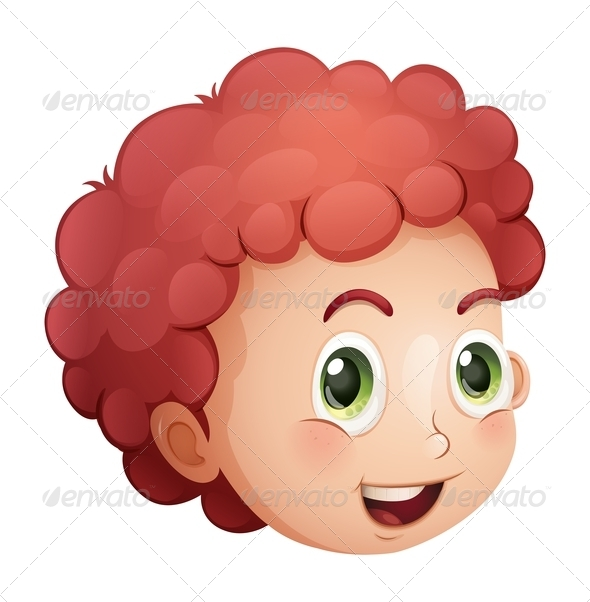 GraphicRiver Face of a curly haired boy 7863322