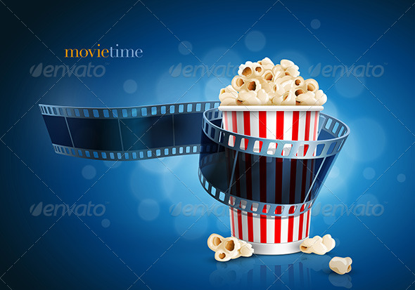 GraphicRiver Camera Film Strip And Popcorn Box 7863391