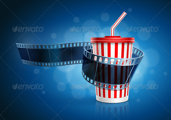 GraphicRiver Camera Film Roll and Cardboard Cup with Straw 7863449