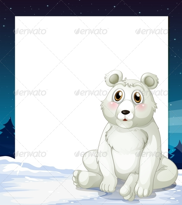 GraphicRiver Empty Template with Polar Bear 7863556
