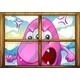 Angry pink monster outside window - GraphicRiver Item for Sale