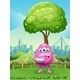 Injured monster near tree - GraphicRiver Item for Sale