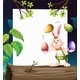 Empty template with bunny juggling eggs - GraphicRiver Item for Sale