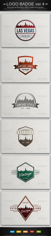GraphicRiver 6 Vintage Logo Badges ver.4 7849229