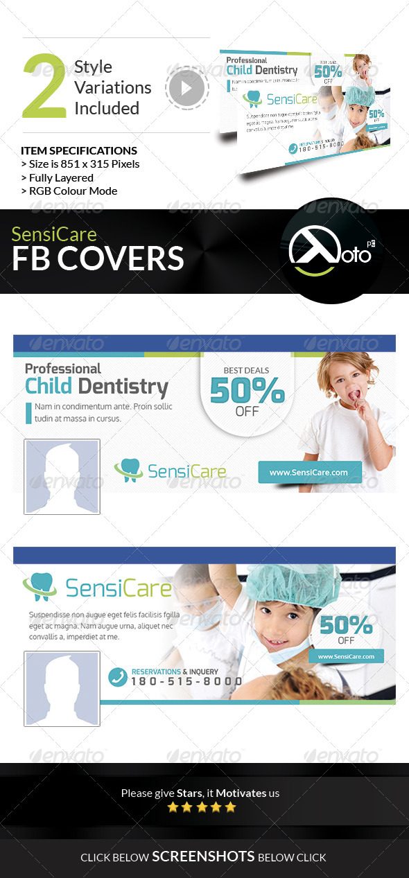 GraphicRiver SensiCare Medical Dental Health FB Covers 7849155