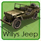 Willys Jeep - 3DOcean Item for Sale