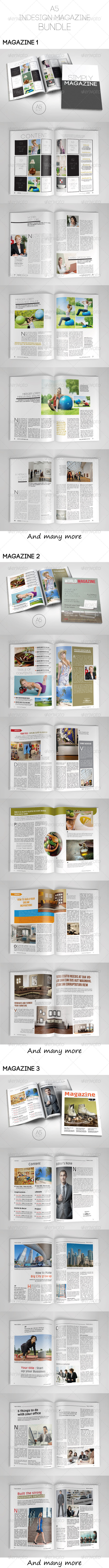 GraphicRiver A5 Magazine Bundle 7864306