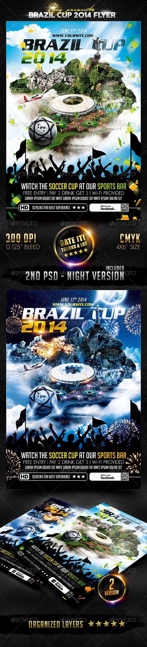 GraphicRiver Brazil Cup 2014 Flyer 7849059