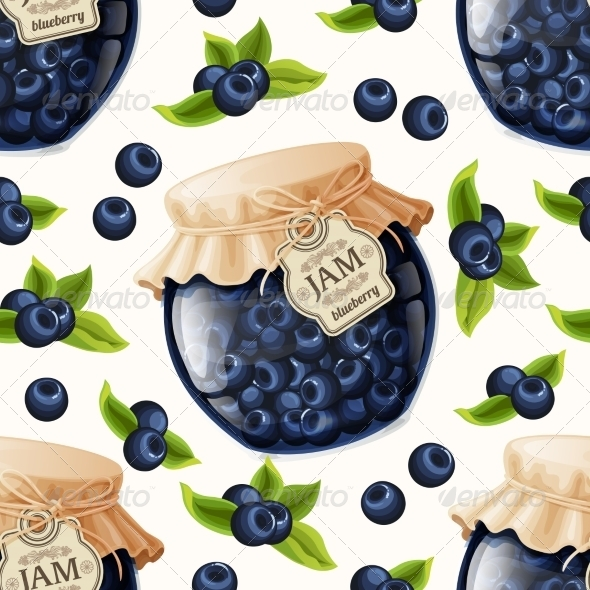 GraphicRiver Blueberry Jam Seamless Pattern 7864667