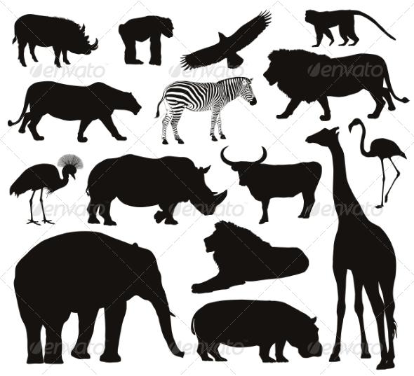 GraphicRiver Animals Silhouettes 7864702