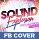 Sound Explosion Facebook Timeline Cover - GraphicRiver Item for Sale