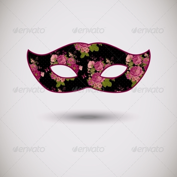 GraphicRiver Carnival Mask with Floral Pattern 7865044