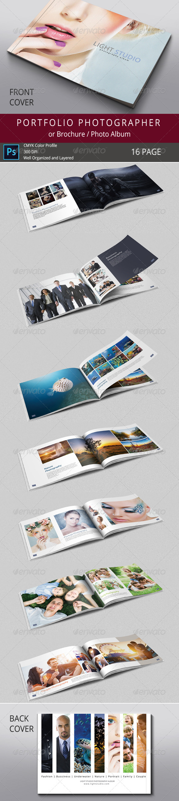 GraphicRiver 16 Pages Photography Portfolio or Photo Album 7865350