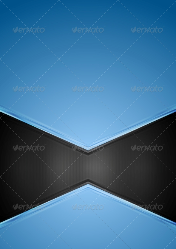 GraphicRiver Abstract Blue and Black Tech Background 7866876