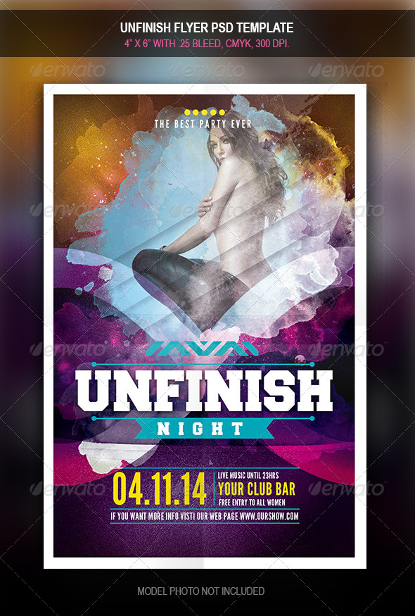 GraphicRiver Unifinish Party flyer 7867201